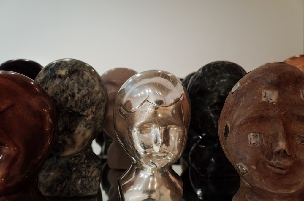 Marianne Heske, Heads, mixed media, photo by Paweł Eibel