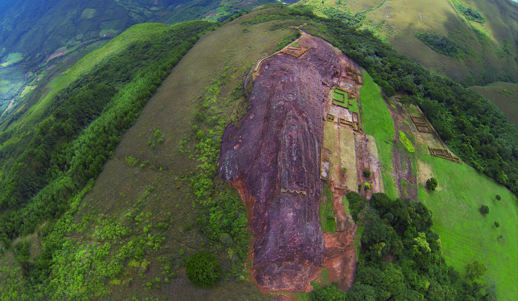 Aerial view of Fortress of Samaipata © Photo: Sonia Falcone Courtesy of the Latin American Pavilion - IILA