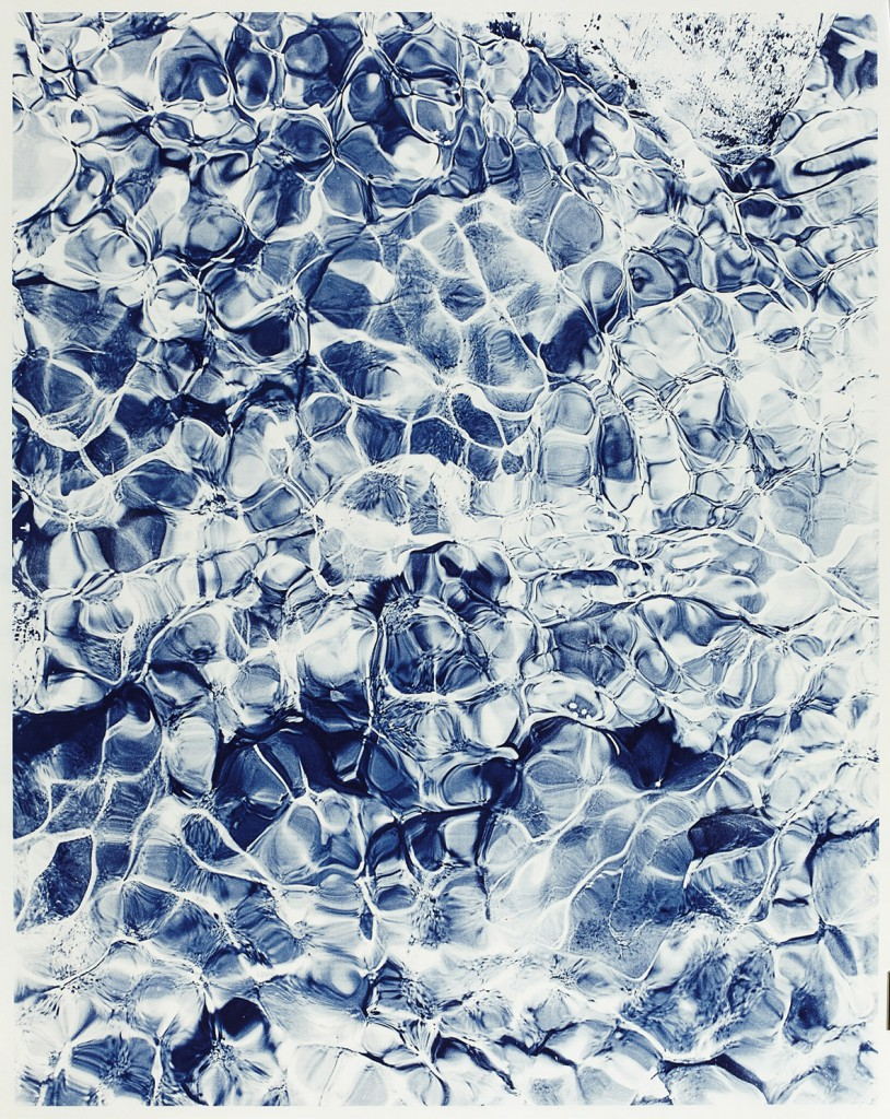 Waterscape Nr. 1  2014 Cyanotypie auf Aquarellpapier