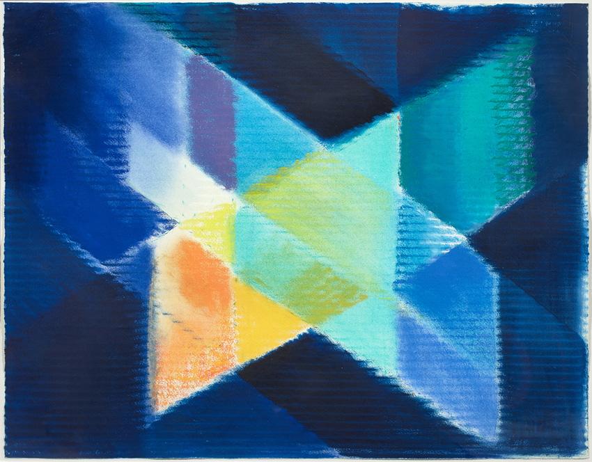 Heinz Mack, West-Östlicher Divan, Ohne Titel, 1997, Pastell und Öl, 69 x 53 cm, © Archiv Mack, VG Bild-Kunst, Bonn 2015