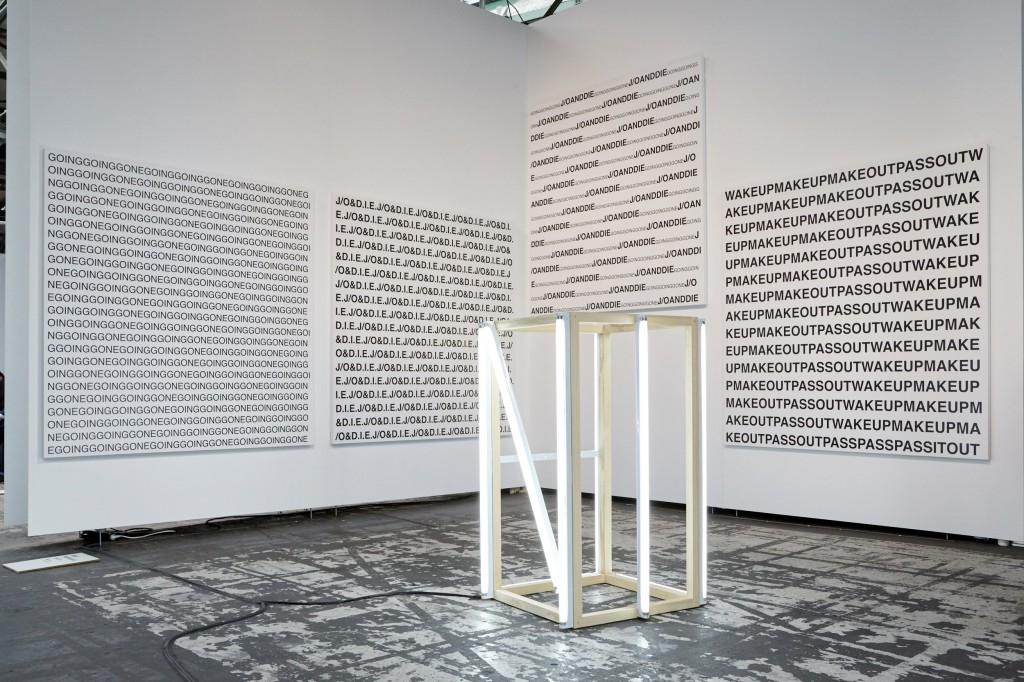 Galerie Neu presenting Karl Holmqvist. Photocredit DONE STUDIO - Ulf Saupe