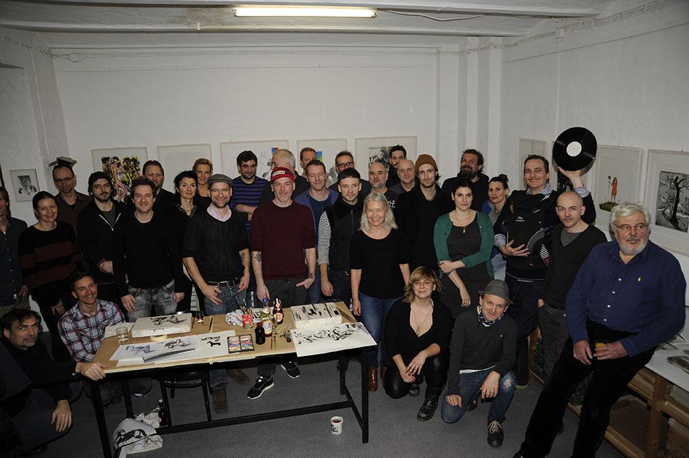 Gruppenfoto der beteiligten Künstler © Jan Kage
