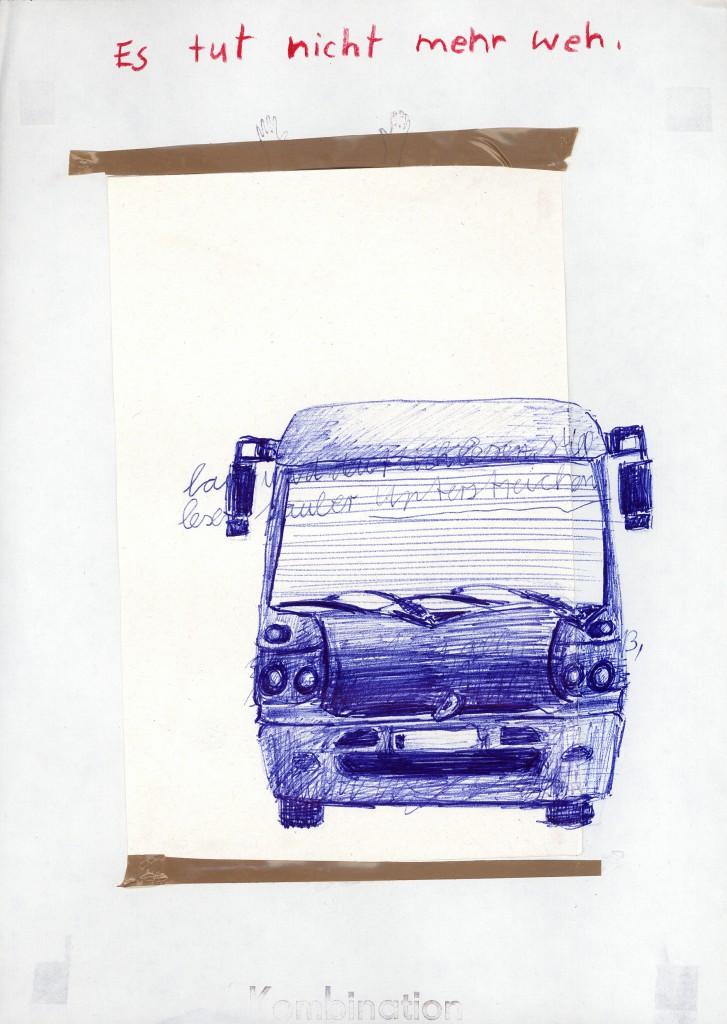 Birgit Brenner, Laut und deutlich, 1999/2008, Tinte, Kugelschreiber, Filzstift auf Papier, 30 x 21 cm, Copyright: Terre des Femmes und Uwe Walter