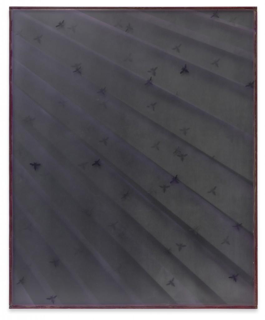 des bien ich (lila), 2009, MDF, Glas, Sprühfarbe, Silikon, 67 x 81 x 3 cm, Copyright: The Artist and Galerie Sprüth Magers