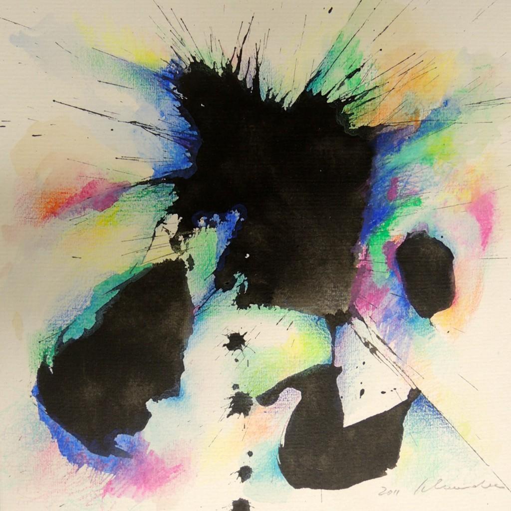 Sabine Schneider, 2011, 20x20, Tusche und Farbstift, Papier, Copyright: The Artist