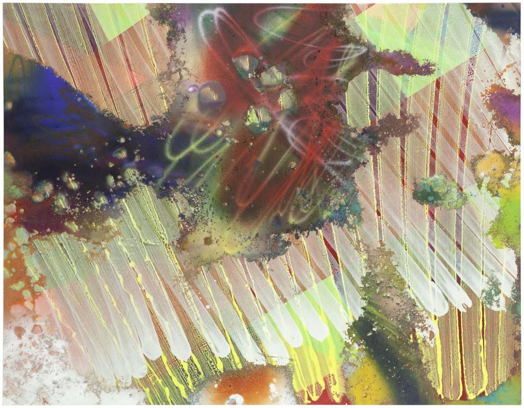 Katharina Grosse,  Untitled, 2009, acrylic  and soil on canvas, 203 x  261 cm Courtesy König Galerie,  Berlin