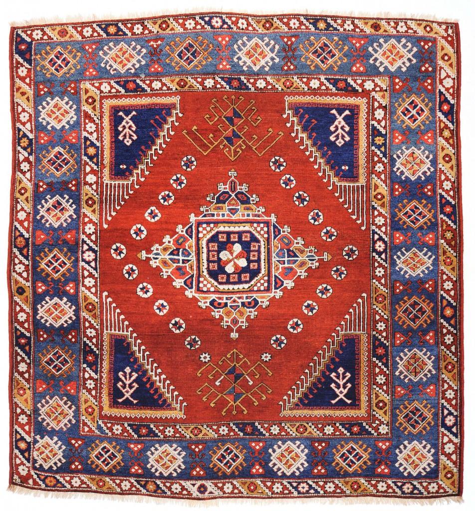 Bergama (GhirlandaioTyp) 207x 197 cm  Knüpfteppich  18. Jahrhundert  812 Knoten /dm²  © Martin Posth Collection