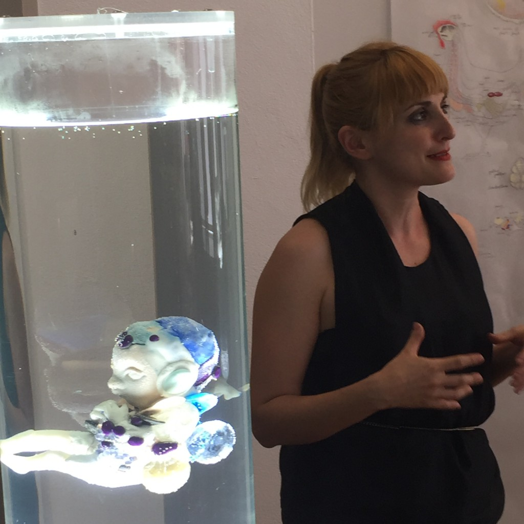 Impression of the exhibition preview with Pinar Yoldes