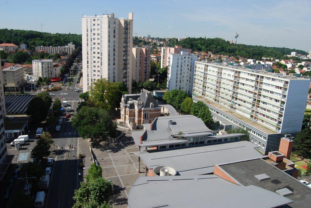 La Galerie, Noisy-le-Sec, vue aérienne (Project: La Presse) ARTPRESS - Ute Weingarten