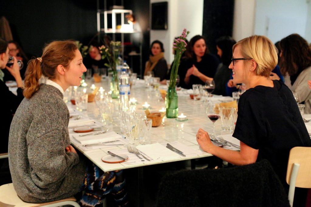 Niche: L'Espace Feminin, Dinner-Talks (Project: Making Spaces) ARTPRESS - Ute Weingarten