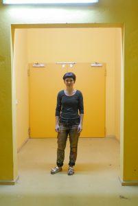 Studio visit, Aneta Kajzer, Stipendiatin Winsor & Newton, Künstlerhaus Bethanien, 2017, Foto: ARTPRESS Ute Weingarten, Amelie Öfner.